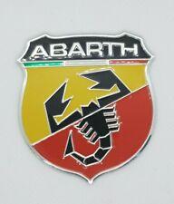 Fiat Abarth Shield Aluminium Graphic 3D Decal Metal Adhesive Badge 500 595 Punto