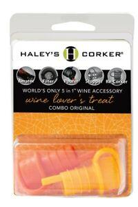 Haley's Corker Wine Lover's Treat Combo 2-Pack Orange & Yellow Aerator Stopper