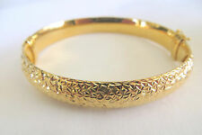 Women's Shinny Bronze Plated Bangle 8 MM 7.5 Inches
