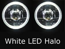 "Toyota Hilux Suzuki Sierra Jeep TJ JK CJ Wrangler WHITE LED Halo 7""headlights"