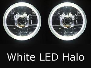 """WHITE LED 7"""" headlight Leyland Mini Cooper S Moke Morris Minor Jaguar Austin"""