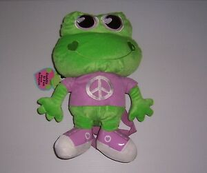 "CUDDLY & FUN MISS FROG  PLUSH BACKPACK  TOY 15""  NWT!"
