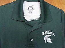 MICHGAN STATE UNIVERSITY Polo Shirt Size S Green MSU SPARTANS
