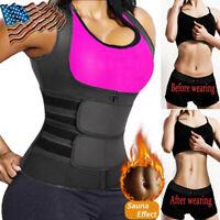 Women's Waist Trainer Vest Gym Slimming Adjustable Sauna Sweat Belt Body Shaper