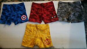 NIP GAP KIDS x Marvel Comics Boys Boxer Briefs 4 Pack Size M (8) Spidey, Cap