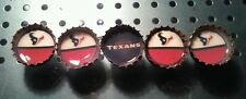Handmade HOUSTON TEXANS Bottle cap Magnets - Set of 5 - ONLY 1 AVAILABLE!