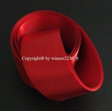 "Premium Quality 50mm 2"" Wide RED Double Satin Ribbon Wedding Car Woven Edge 5m"
