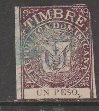 Dominican Republic as seen- Revenue fiscal  cinderella stamp 12-14-