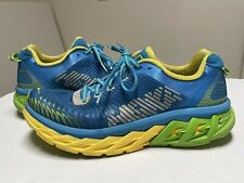 New listing hoka one one mens blue yellow arihi running shoes size 11