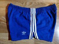 Adidas Originals West Germany 80s Mens Cotton Shorts Running Sprinter Blue White