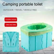 Tragbare Reise Toilette Klappkommode Toilettensitz New Wandern für Camping J2J4