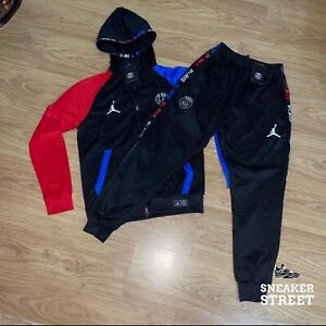 ✅ JORDAN X PSG | BLACK/BLUE/RED | FULL TRACKSUIT | MENS SMALL ✅