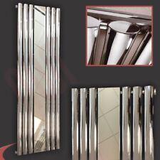 "499mm(w) x 1800mm(h) ""Brecon"" Chome Vertical Mirror Radiator 3241 BTU Oval Tubes"