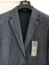 MENS BNWT M&S LINEN BLEND JACKET BLAZER CHEST 38 LONG RRP £99 DENIM BLUE