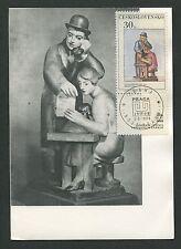 CSSR MK 1968 PRAG GUTFREUND BILDHAUER ART MAXIMUMKARTE MAXIMUM CARD MC CM d3053