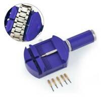Wrist Bracelet Watch Band Link Strap Remover Adjuster +5 Pins Repair Tool Set