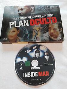 PLAN OCULTO DVD STEELBOOK ESPAÑOL ENGLISH DENZEL WASHING JODIE FOSTER OWEN - AM