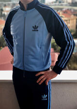 Classical Adidas mens tracking suit vintage old school tracksuit LIGHT BLUE