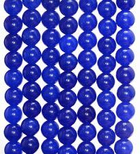 8MM DEEP BLUE JADE GEMSTONE ROUND LOOSE BEADS 15