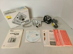 Nikon Coolpix 7600 7.1mp 3x Optical Zoom Digital Camera with Box CD & Manuals