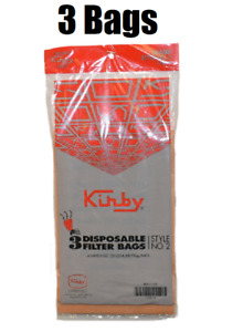 (3) Kirby Style 2 Paper Filter Bags Fits Heritage 1HD 19068103 GENUINE
