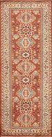"Geometric Heriz Serapi Oriental Runner Rug Hand-knotted Wool Carpet 2' 6""x7' 10"""