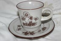Vintage Noritake Desert Flowers Stoneware Cup and Saucer .Tasses & Soucoupes.