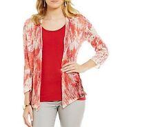 NWT ZoZo Cardigan Sweater 3/4 Sleeve Lightweight Linen Blend Size XL $138 New