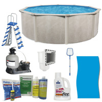 """Phoenix 24' x 52"""" Frame Above Ground Swimming Pool with Pump, Ladder, & Hardware"""