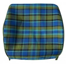 Westfalia Late Bay Front Seat Open Back Cover in Blue Plaid 1975-1979 C9253BL