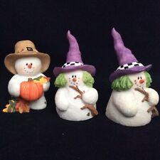 Halloween Figurines Witch Snowwonders Lot of 3 October Sarah's Attic No Box