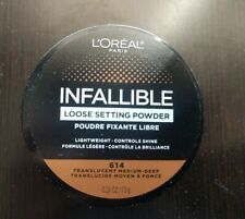L'Oreal Paris Infallible Loose Setting Powder 614 Translucent Medium-Deep New