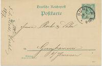 """DT.REICH """"SUHL"""" K1 5 Pf Reichspost Kab.-GA-Postkarte (Druckdatum 692 d, ABART)"""