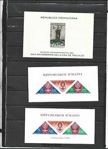 DRH    0277     Republica Dominicana and Haiti blocks Imperforate MNH