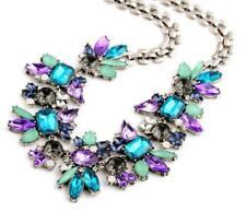 Betsey Johnson Enamel Jewelry Pendant Rhinestone Water drop Flowers Necklace hot