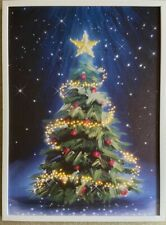 Extra Large Framed Canvas LED Light Up Christmas Tree Picture Wall Decor CHEAP