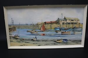 Peter Stuckey Original Watercolour Painting West Country Harbour One Off
