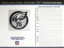 PHILADELPHIA EAGLES 75TH ANNIVERSARY Willabee Ward NFL PATCH INFO STAT CARD 2007
