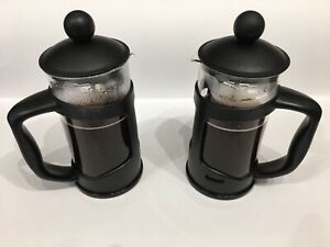 2 X COFFEE MAKER CAFETIERE 3 CUP PLUNGER FRENCH PRESS TEA AMERICANO 350ML