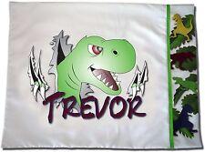 NEW Personalized Dinosaur T-Rex Pillowcase - Toddler, Standard Kids, Boys, Girls