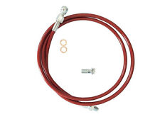 For 1992-2000 Honda Civic 94-01 Acura Integra Stainless Steel Clutch Line Red