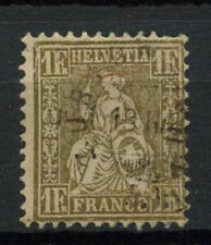 Switzerland 1862-4 SG#60a 1f Gold Used #A69556