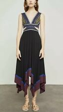 NWT! BCBG MAX AZRIA $328 EMBROIDERED CUT OUT HANDKERCHIEF DRESS SZ 4