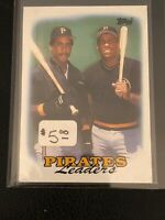 1988 Topps Barry Bonds Leaders baseball card Pittsburgh Pirates #231 - MINT
