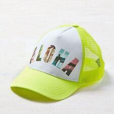 American Eagle Outfitters Yellow ALOHA w/ Mesh Back Snapback Baseball Cap