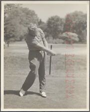 Vintage Photo Golfing Man Bob Rosburg w/ Golf Club in Swinging Motion 704312