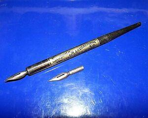 "Vintage ""Sandwich Manufacturing Co."" Council Bluffs Adv Dip Pen w/Parrot 576 Nib"