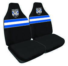 NRL Front Car Seat Covers - Canterbury Bulldogs - Set Of 2 - One Size Fits All