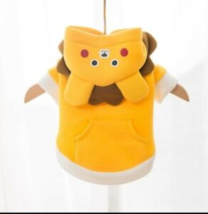 Cute Yellow  cartoon Hoodie Pet Cat Dog Clothes Christmas Easter Clothes Pet
