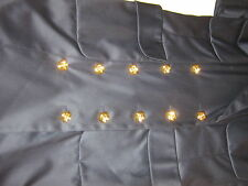 CHANEL RUNWAY NAVY SILK 10 CAMELIA BUTTON CLASSIC CO CO CHANEL DRESS 34 NWT$4k